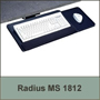 Radius Keyboard Tray 18 inch with Slide Out Mousing Surface